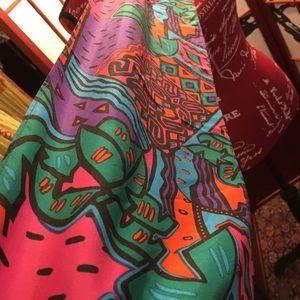 E s studios silk scarf